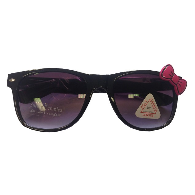 Black Sunglasses With Pink Bow Hello Kitty Nerd Accessory Adult
