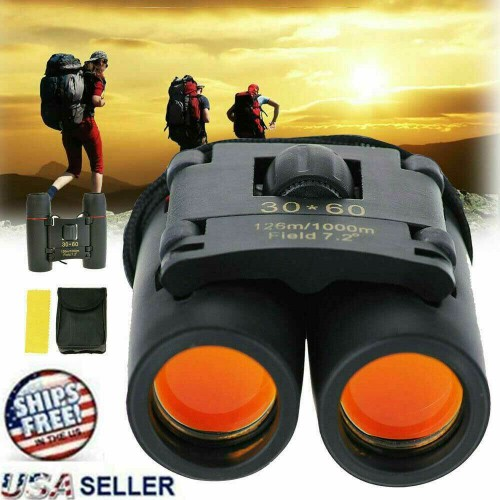 Binoculars 30x60 Zoom Outdoor Travel Compact Telescope Hunting Day/Night