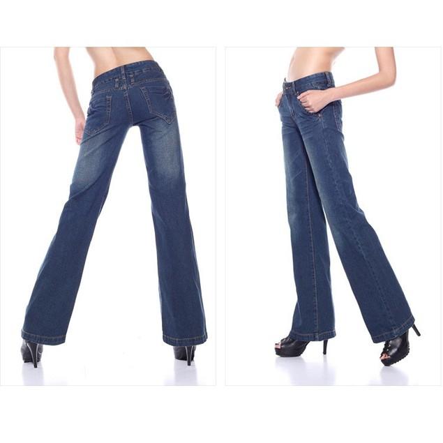 Newmid waist slim butt-lifting boot cut wide leg flare