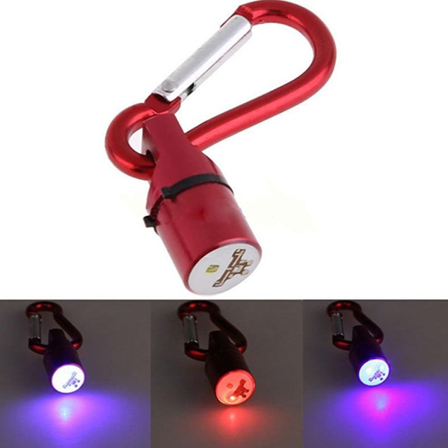 Pet Safety Waterproof Flash LED Light Mini Blinker Collar Pendant Tag