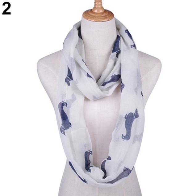 Fashion Dachshund Dog Women Lady Soft Scarf
