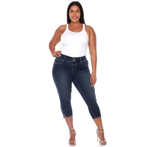 White Mark Universal Plus Size Capri Jeans
