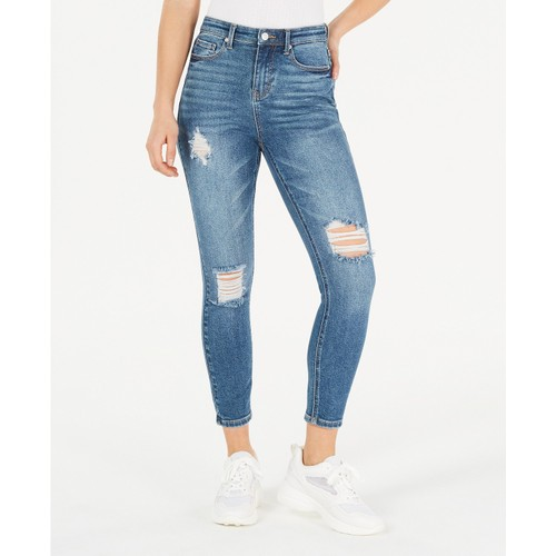 Vanilla Star Juniors' Ripped Skinny Jeans Blue Size 3