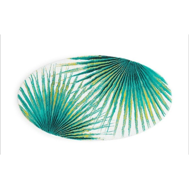 """Abyss Exotic Bath Rug Multi Color Frond Lagoon 42"""" x 25"""""""