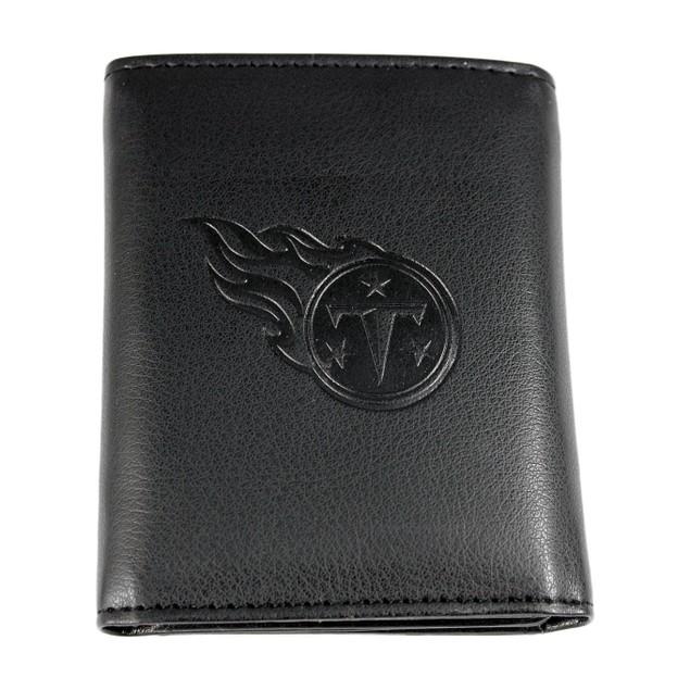 NFL Embossed Tri-fold Leather Wallet - Black