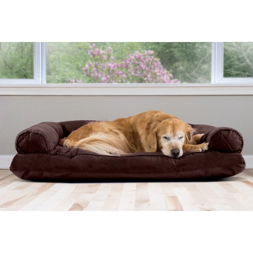 FurHaven Quilted Pillow Sofa Pet Bed