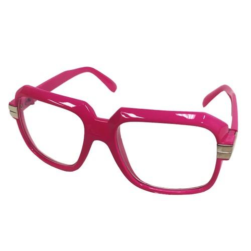 Oversized Hot Pink Hip Hop Glasses