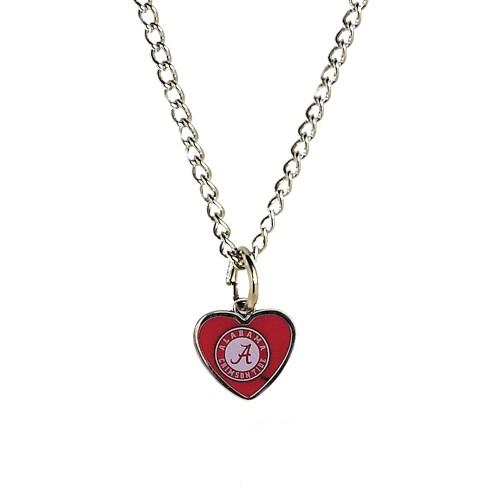 Cleanlapsports Alabama Tide  Heart Shaped Pendant Necklace