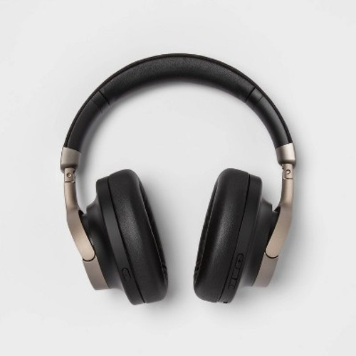 Heyday Active Noise Cancelling Over-Ear Headphones Black/Gold