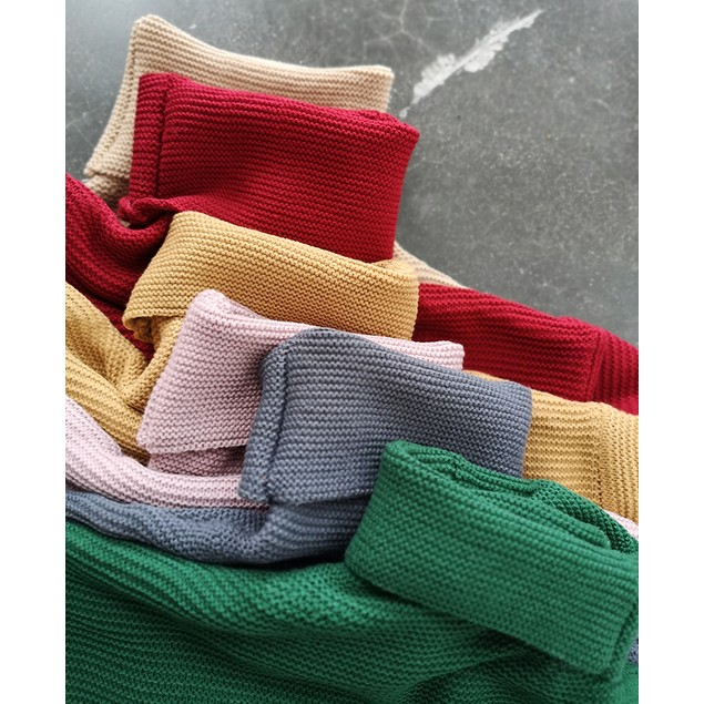 Long Sleeve Turtleneck Knit Pullover