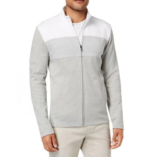 Alfani Men's Colorblocked Full-Zip Jacket Medium Gray Size Small