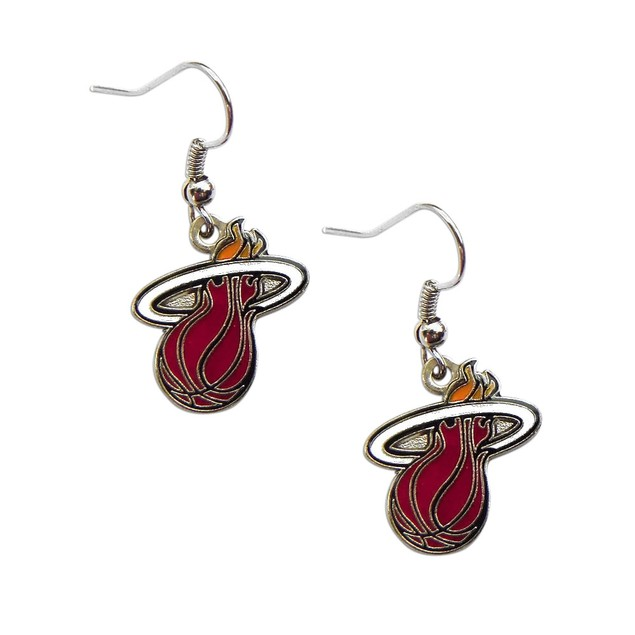 Miami Heat Dangle Logo Earring Set NBA Charm