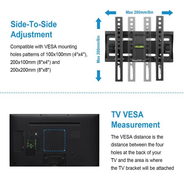 "TV Wall Mount Bracket Tilt for 23""-42"" VESA 200x200mm"