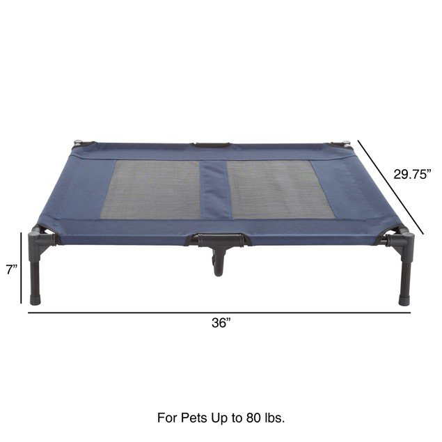 Elevated Pet Bed-Portable Raised Cot-Style Bed  36 in.x 29.75 in.x 7 in.