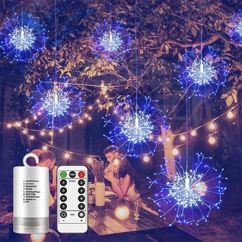 2Pcs Starburst Lights 150 LED Firework Lights  LED Christmas Lights