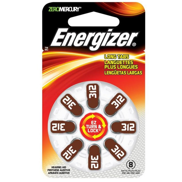 Energizer Size 312 MF Zinc Air Hearing Aid Batteries (48 pack)