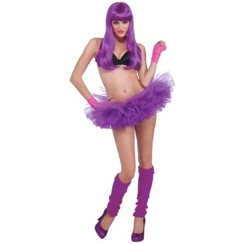 Neon Purple Adult Tutu Ballerina Ballet Pettiskirt Elastic Rave EDM Costume