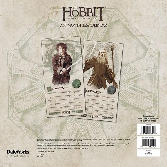 The Hobbit Wall Calendar, Fantasy Movies by Calendars
