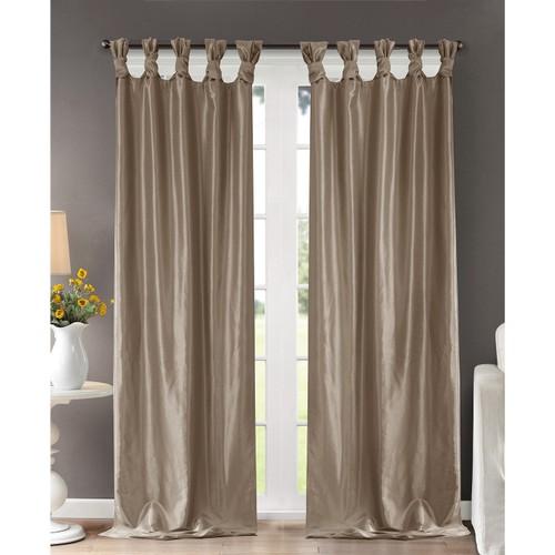 "Madison Park Emilia 50"" x 120"" Lined Faux-Silk Twisted Tab Window Panel"