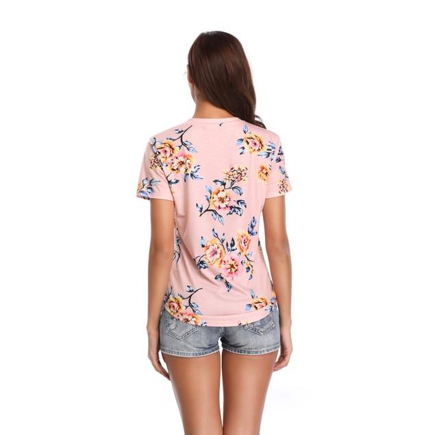 Women's Pastel Flower Print Top