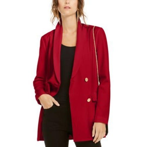INC International Concepts Women's Double-Breasted Blazer Red Size Small