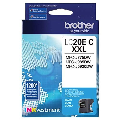 Brothers Brother LC20EC Super High Yield Cyan Ink Cartridge