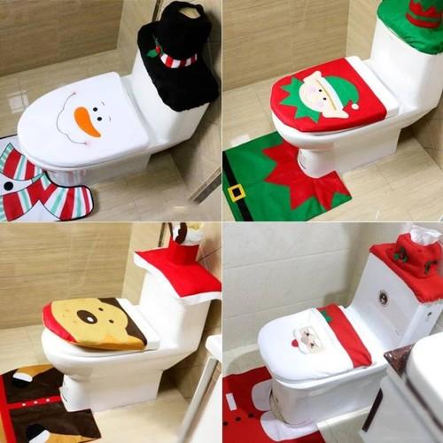 3-Piece Christmas Bathroom Set
