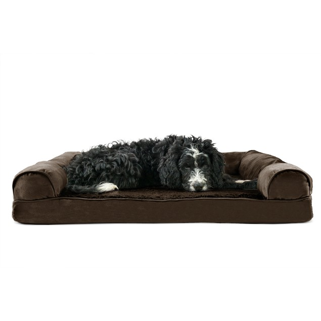 FurHaven Plush & Suede Orthopedic Sofa Pet Bed