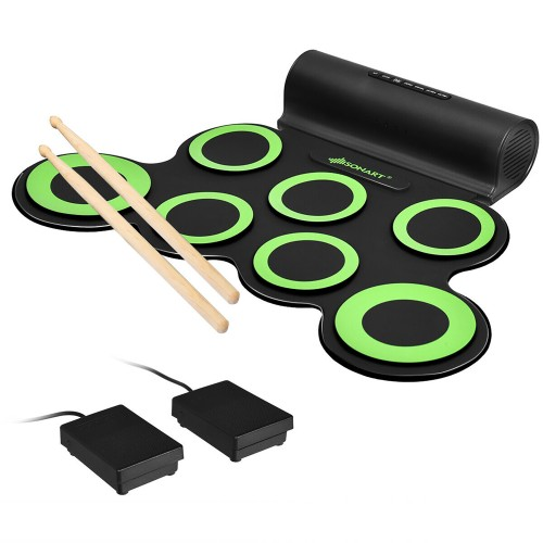 Electronic Roll Up Drum Set w/ 2 Speakers