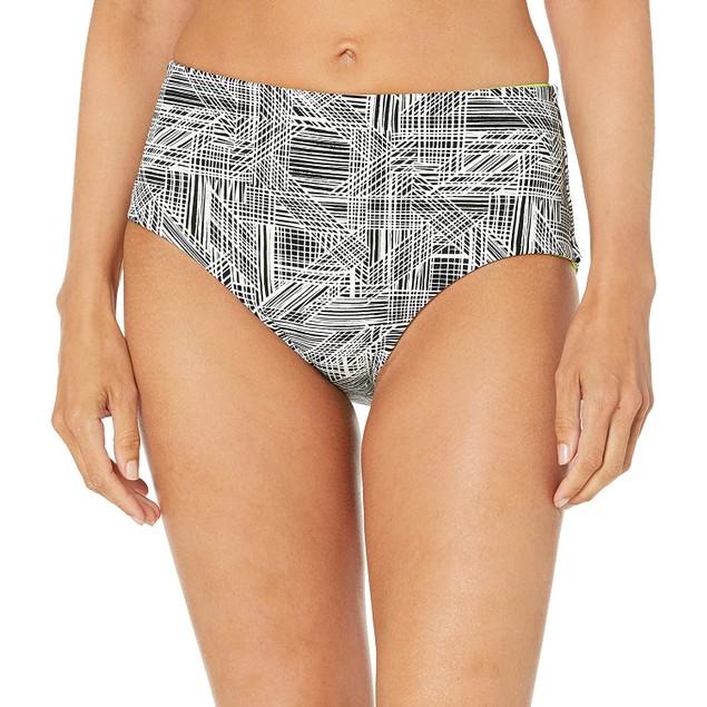 Spyder Mild Stomach Coverage Womens Swim Bikini Bottom, Small, Black Scuba