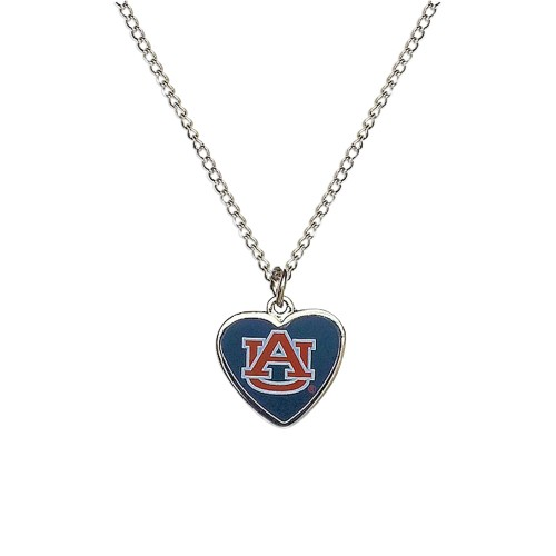 Cleanlapsports Auburn Tigers Heart Shaped Pendant Necklace
