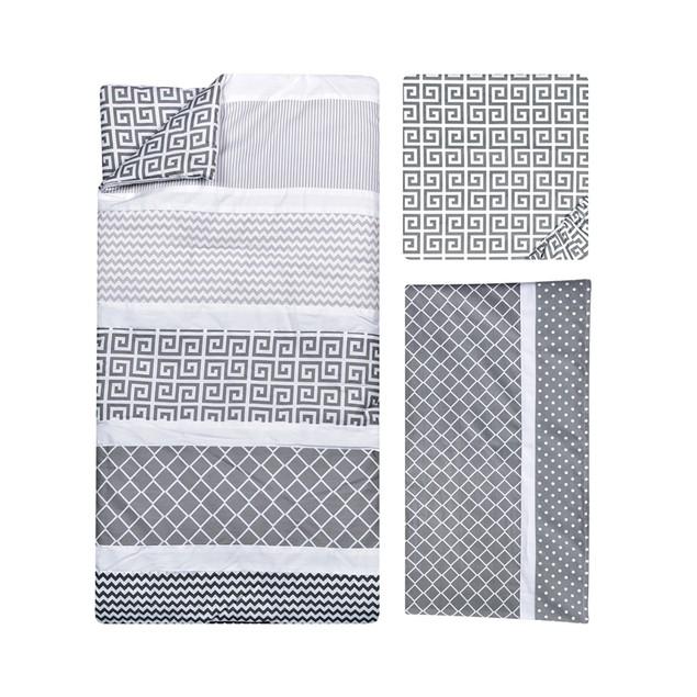 Trend Lab Ombre Gray Crib Bedding Set - 3 Piece