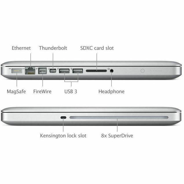 "Apple MacBook Pro Laptop Core i5 2.4GHz 4GB RAM 500GB HD 13"" - MD313LL/A (2011)"