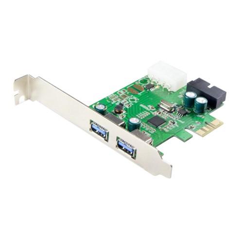 2 Port USB 3.0 And One USB 3.0 19 Pin Internal Header PCI-e 2.0 x1 Card