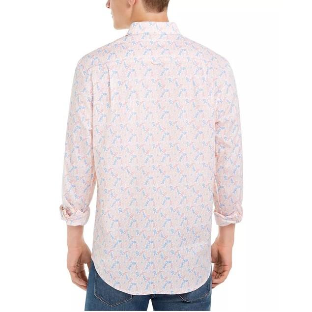 Club Room Men's Tennis Player Print Shirt White Size XX-Large