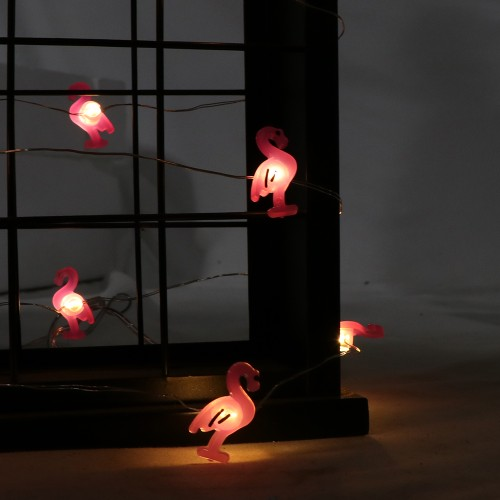 BIGTREE String Light White LED Flamingo Battery Power Party Decoration Waterproof Sphere