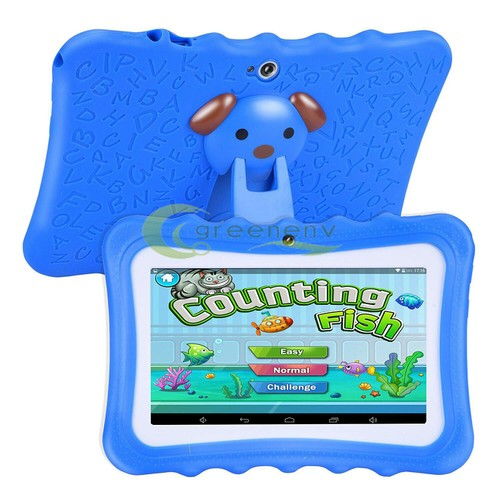 """Kids Blue 7"""" Tablet PC 16GB Android Wifi Quad Core Educational Apps Be"""