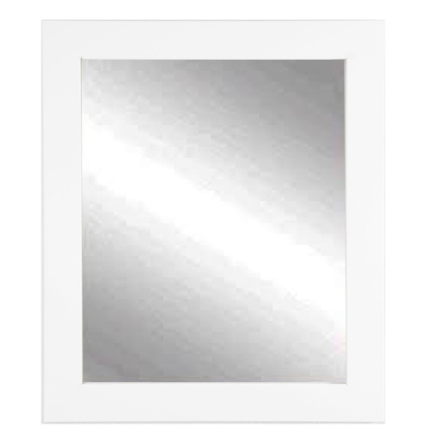 """BrandtWorks Perfect Durable Value White Lobby Wall Mirror 32"""" x 38"""""""