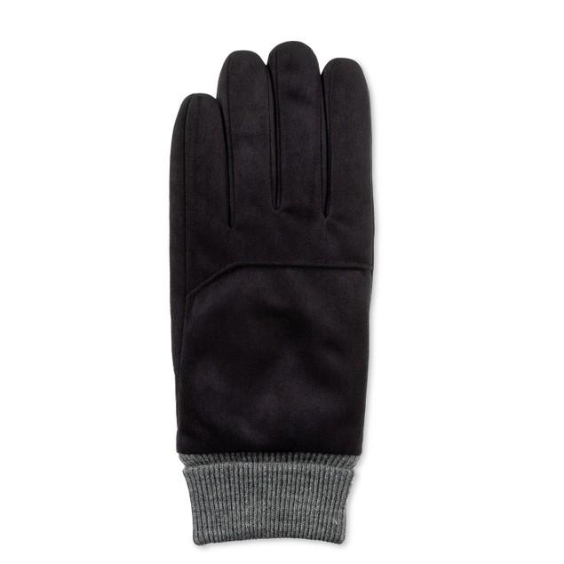 Isotoner Signature Men's Smartdri Gloves Black Size Large