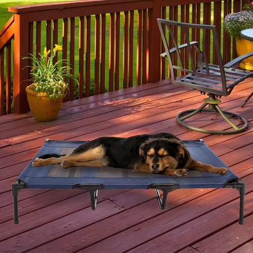 Elevated Pet Bed-Portable Raised Cot-Style Bed  48 in.x 35.5 in.x 9 in.