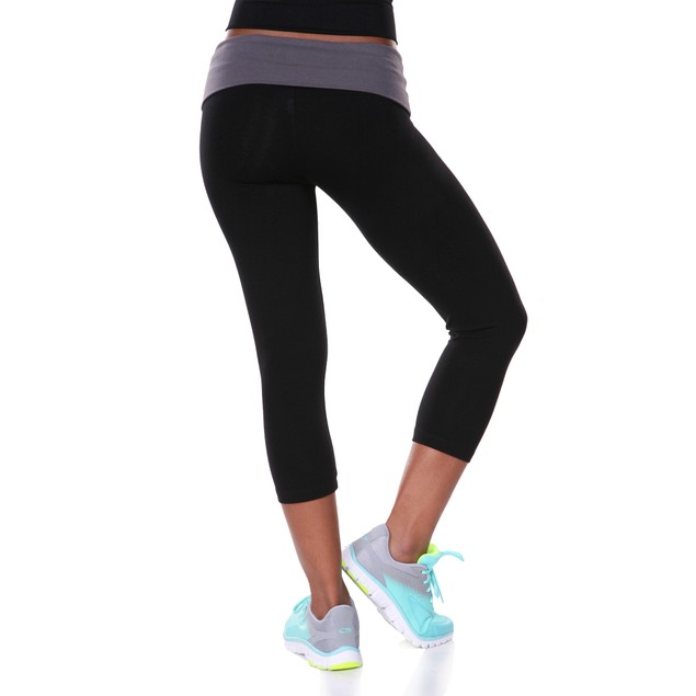 Capri Yoga Leggings - Charcoal