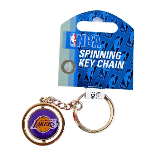 Cleanlapsports Los Angeles Lakers 3D Basketball Spinning Keychain
