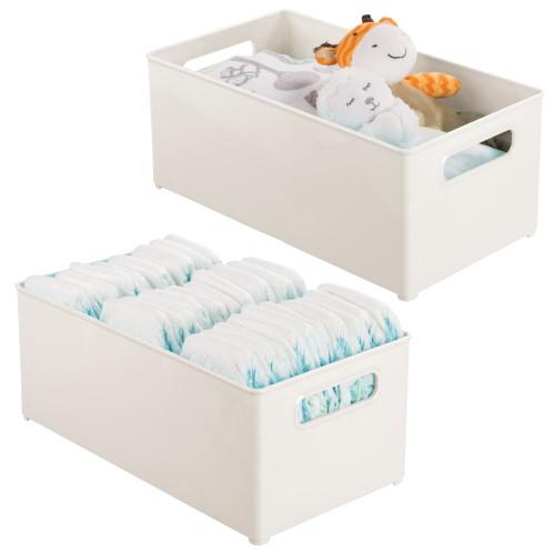 """mDesign Plastic Storage Organizer Bin for Kids Supplies, 14.5"""" L - 2 Pack"""