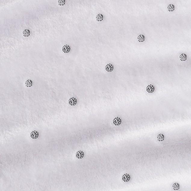 Metallic Polka Dot Print Fleece Throw Blanket