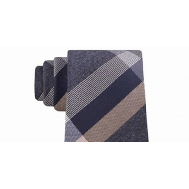 Kenneth Cole Reaction Men's Ruby Plaid Slim Tie Brown Size Regular