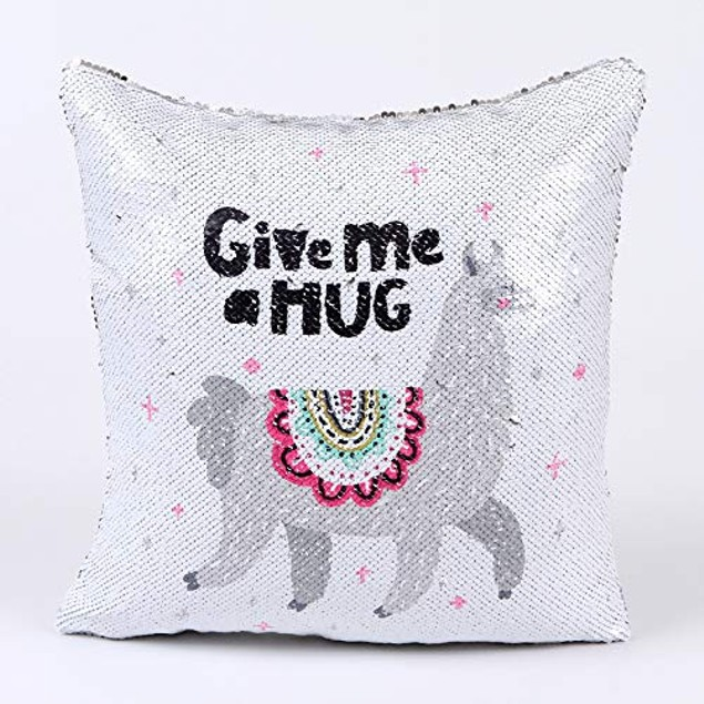 "Sequins Decorative Cushion Covers 16"" x 16"" (40cm x 40cm) (GIVE ME A Hug)"