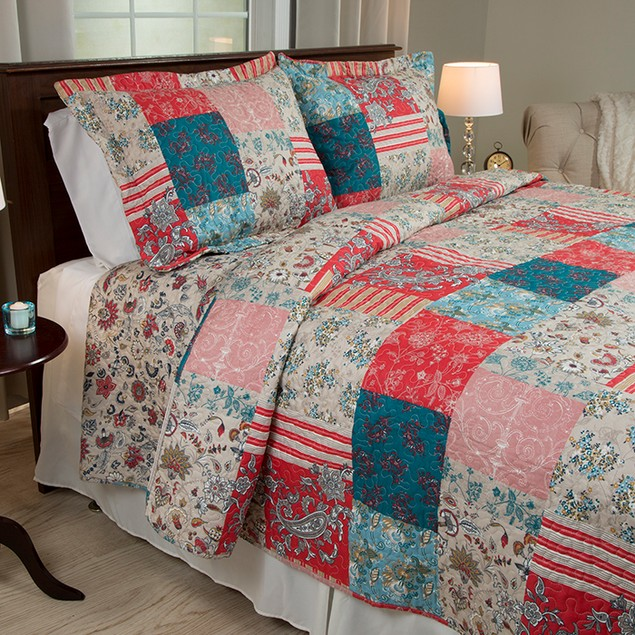 Lavish Home 3 Piece Mallory Quilt Set