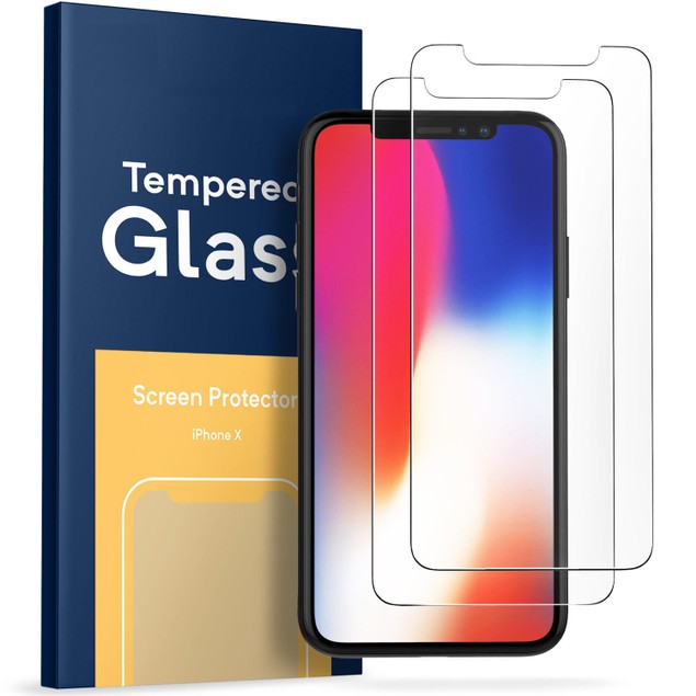 2-Pack Premium Tempered Glass Screen Protector with Ring Holder