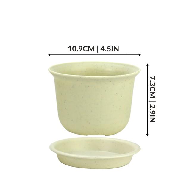 Plastic Plant Pots - Set of 10   Pukkr Small