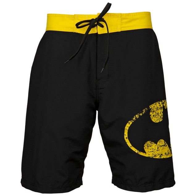 Batman Symbol Heather Black Board Shorts (S-3XL)